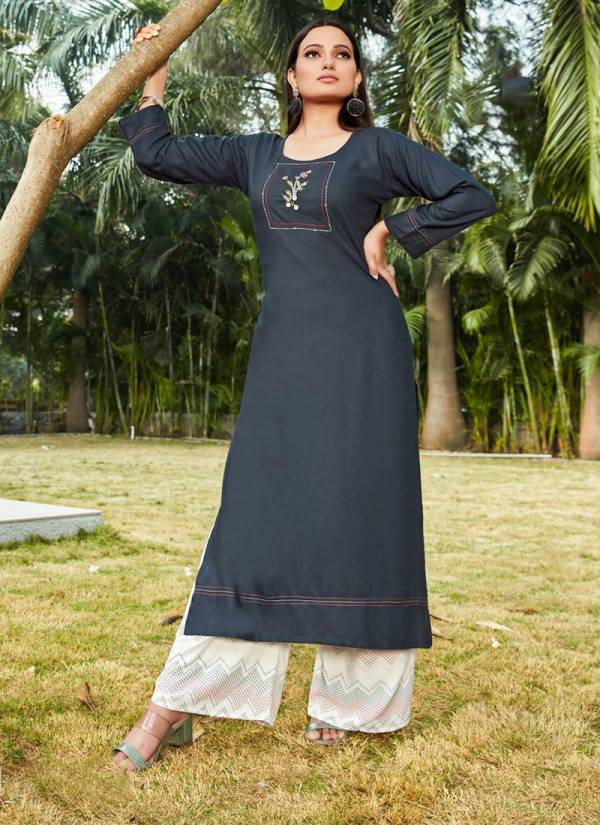 Fashion Valley Dresses Begum Vol 1 Rayon With Embroidery Work Latest Fancy Kurtis With Palazzo Collection