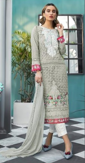 Shree Fabs Sana Safinaz Muszlin Pure Cotton Printed With Embroidery Pakistani Suits Collection