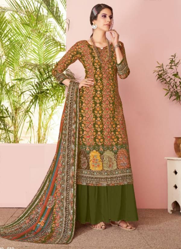 Alok Suit Kashvii Series 529-001 - 529-010 New Designer Pure Wool Pashmina Designer Print Winter Suits Collection