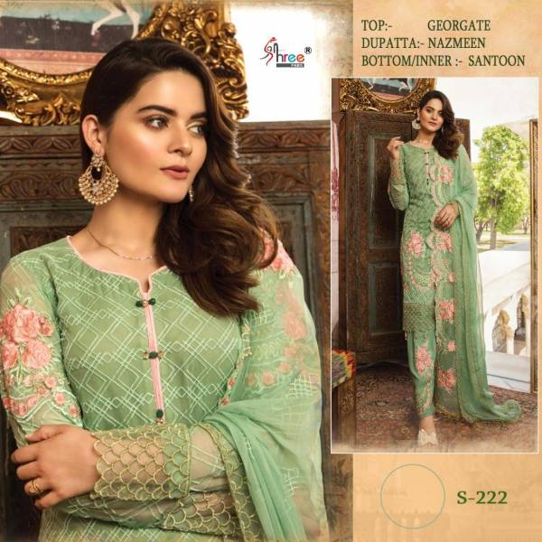 Shree Fab Series 198-238 Faux Georgette With Exclusive Embroidery Work Eid Special Pakistani Suits Collection