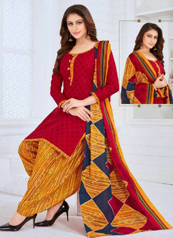 Riddhi Siddhi Pari Vol 12 Series 12001-12014 Pure Cotton Printed Punjabi Style Casual Wear Readymade Patiyala Suits Collection