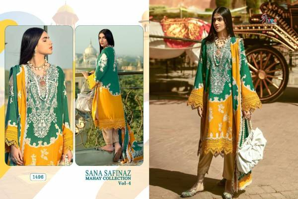 Shree Fab Sana Safinaz Mahay Vol 4 Series 1495-1500 Jam Cotton With Digital Printed Casual Wear New Designer Pakistani Suits Collection