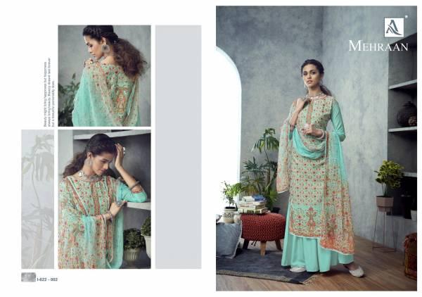 Alok Suit Mehraan Pure Muslin Digital Print with Swarovski Diamond  Work Festival Wear Designer Palazzo Suit Collection