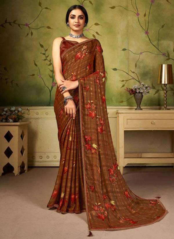 Saroj Rainbow Fancy Digital Printed Work Daily Wear Designer Saree Collection