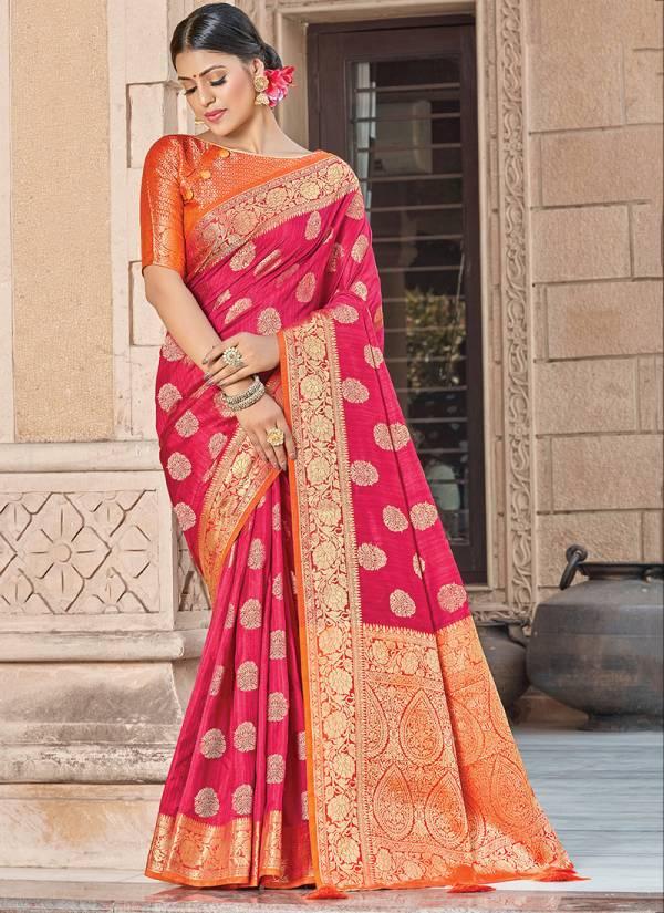 Sangam Prints Veerangna Silk Digital Embroidery Work with Fancy Rich Pallu Designer Sarees Collection