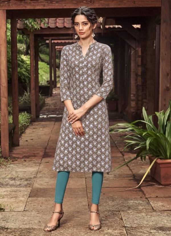 Majisha NX Ashmita Series 1001-1010 Rayon Slub Print With Foil Print Regular Wear Kurti Collection