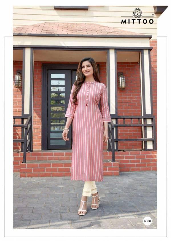 Mittoo Mohini Vol 7 Rayon Fancy Printed Work Casual Wear Designer Kurti Collection