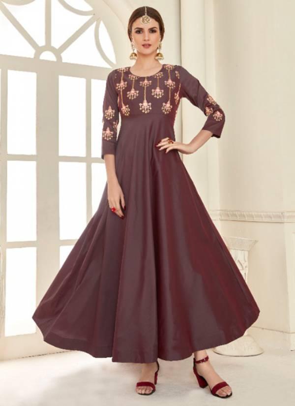 Shubh NX Aakruti 1001AAKRUTI-1004AAKRUTI Soft Tapeta Silk Heavy Work Latest Designer Party Wear Gowns Collection