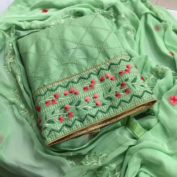 Designer Suits Series 01-04 Cotton With Stylish New Embroidery Work Traditional Wear Salwar Suits Collection