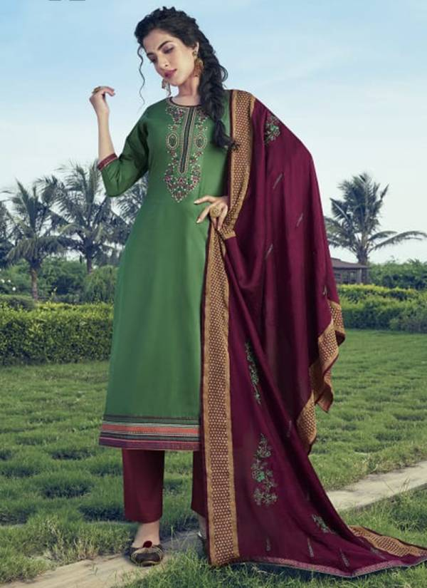 Kalarang Kitkat Vol 2 Series 1751-1754 Jam Silk Cotton With Embroidery Work Festival Wear Suits Collection