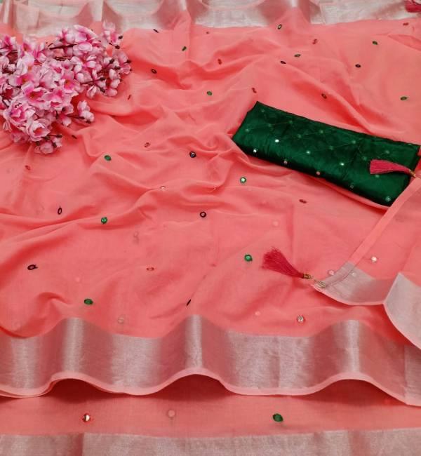Manokamna Trendz Pari Series 111-116 Linen Cotton With Full Bhagalpuri Embroidery Mirror Work exclusive Sarees Collection