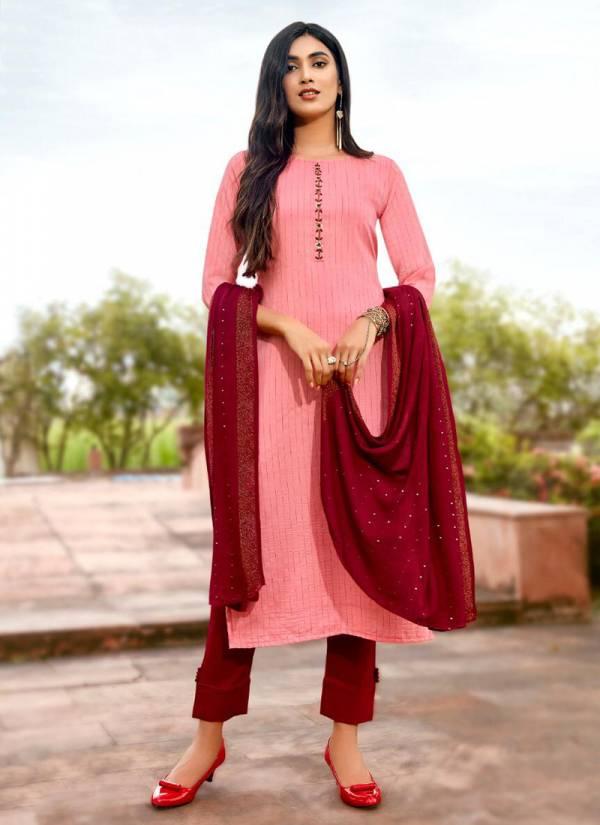 Koodee Fashion Saheli Vol 1 Series 8501-8504 Pure Viscose Cotton Khatli Work New Designer Kurtis With Bottom And Dupatta Collection