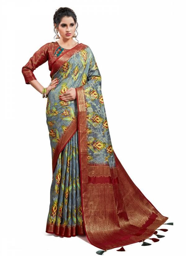 AJ Creation Madhurima Poly Georgette Jacquard Festival Wear Latest Sarees Collection