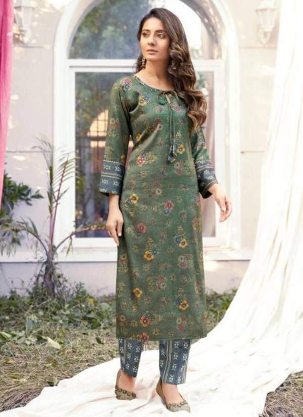 Vitara Fashion Rangraze Heavy Rayon Foil Printed Casual Wear Kurti With Pent Collection