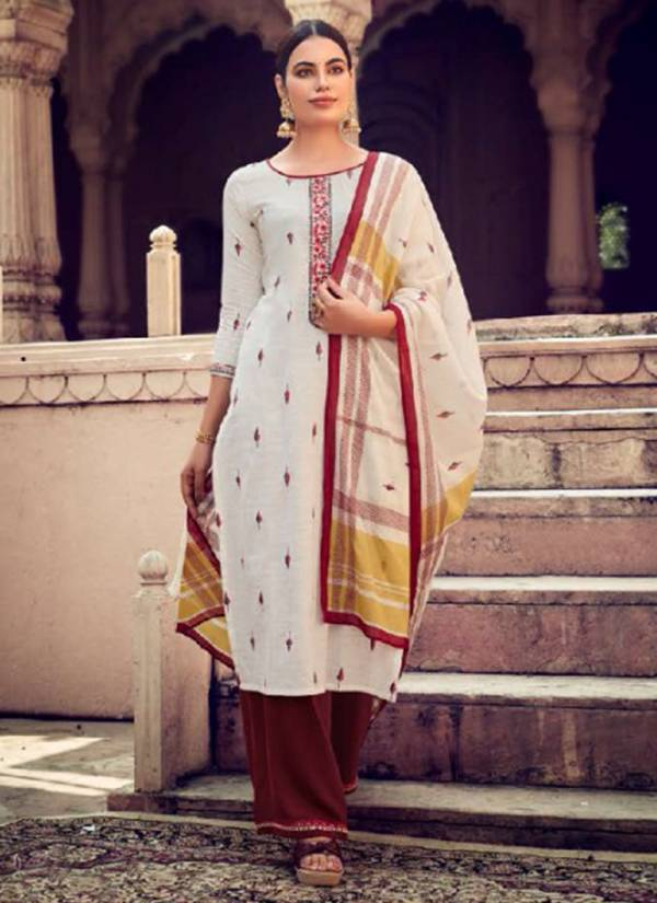 KVS Symboll Series 2521-2528 Viscose Weaving Butti Cotton Work Readymade Suits Collection