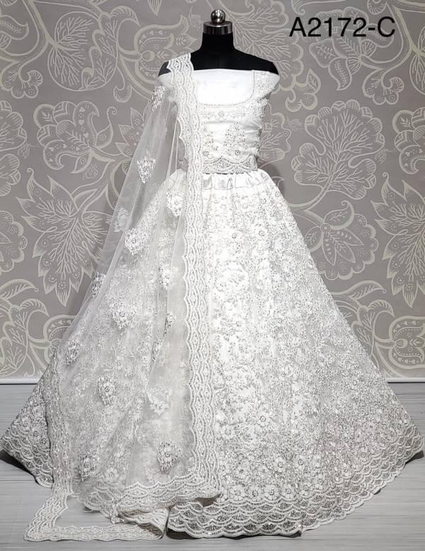 Anjani Art Net Heavy Coding And Thread Embroidery With Diamond Work Wedding Wear Designer Lehenga Choli Collection