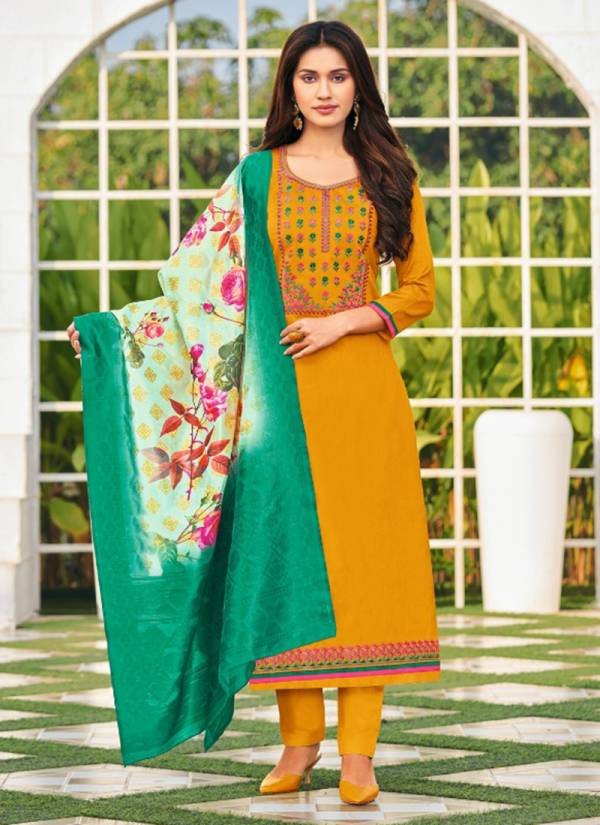 Orrly Khanak Series 4000-4006 Jam Cotton With Fancy Sequence Work New Designer Festival Wear Salwar Suits Collection