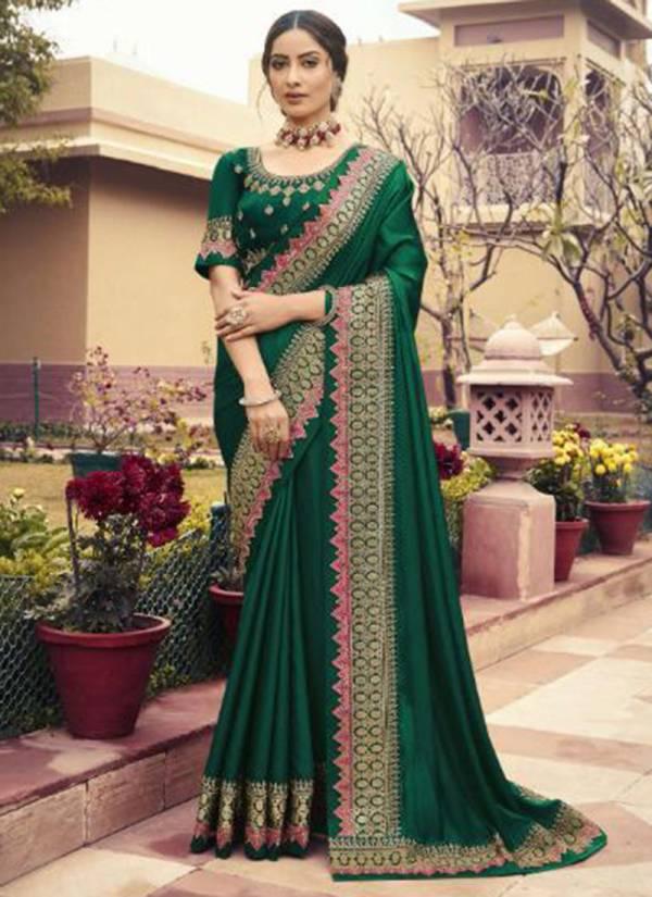 Kavira Aarna Fancy Embroidery Work Wedding Wear Designer Sarees Collection