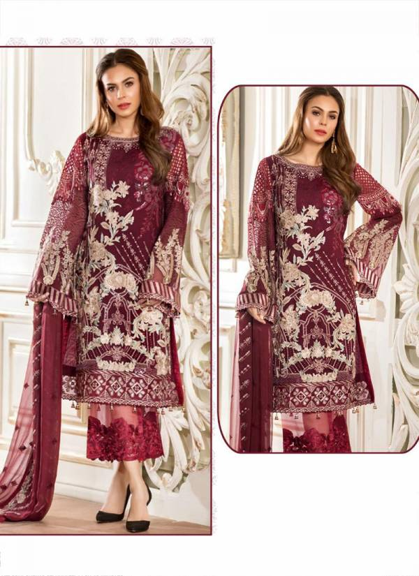 Fepic Rosemeen Maria B Cambric Cotton Semi Lawn Embroidery Work Eid Special Wear Pakistani Salwar Suit Collections