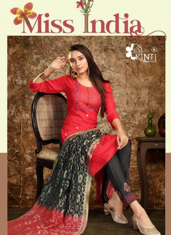 Kinti Missi India Straight Cut Fancy Rayon Readymade Salwar Suits Collection