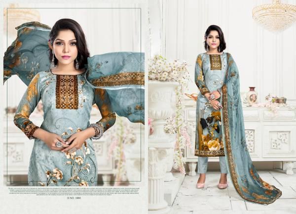 Razzo Export Paaru Vol 3 Series 1001-1006 Jam Satin Digital Printed Work Casual Wear Salwar Suits Collection