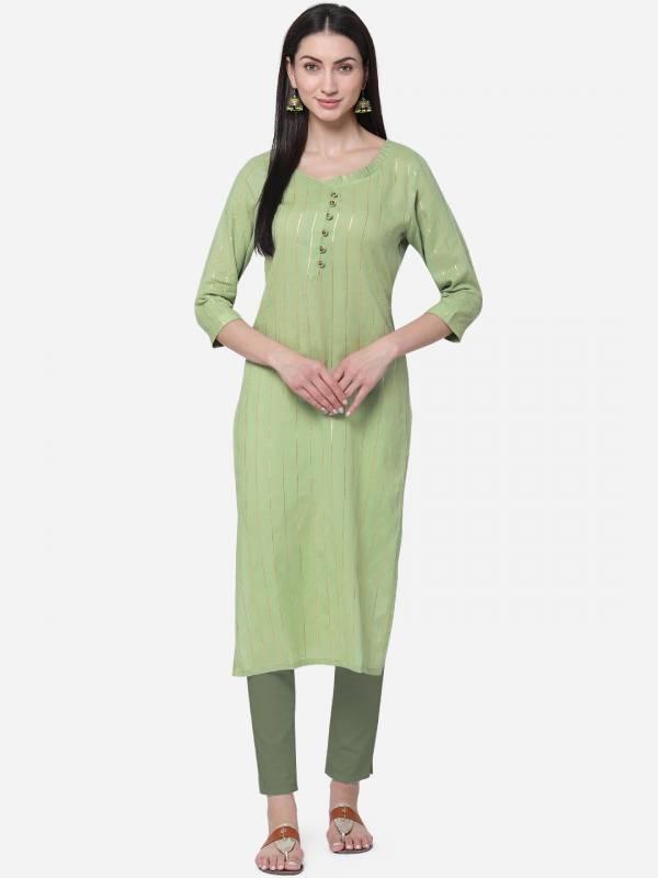 KVS Kasmira Series KVSKR714KSLL-KVSKR722KSLL Viscose Cotton With Designer Zari Lining Regular Wear Kurti Collection