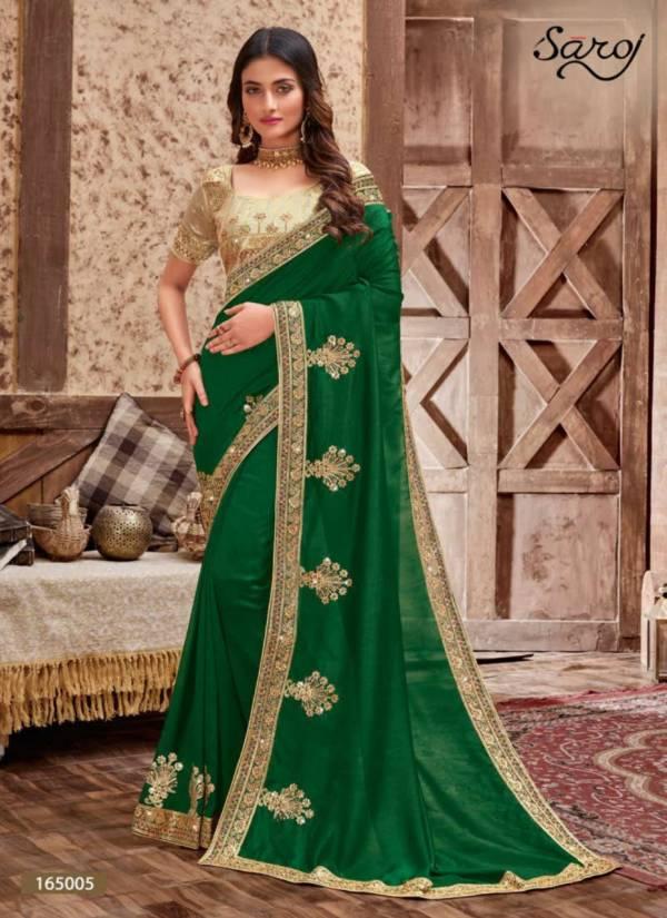 Saroj Rainbow Series 165001-165006 Vichitra Silk With Zari Work & Fancy Border Sarees Collection