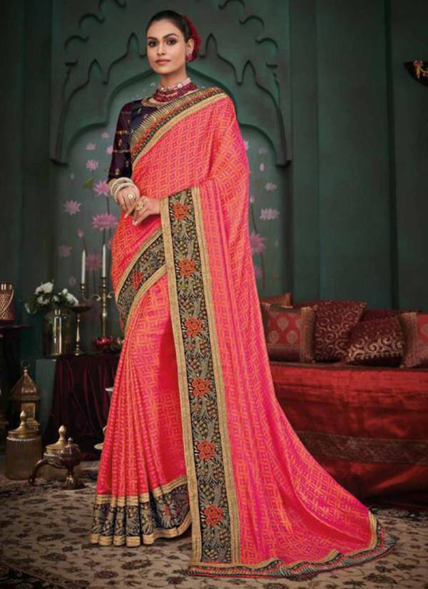 Vanya Designer Fancy With Heavy Border Work Party Wear Sarees Collection