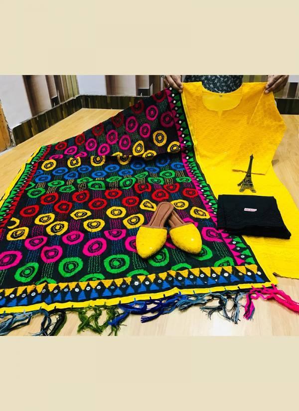 VE Phulkari Raw Silk Handwork Embroidery Chikankari Sequence Work Wedding Wear Designer Long Kurti With Plazzo Collection(38-48 Sizes)