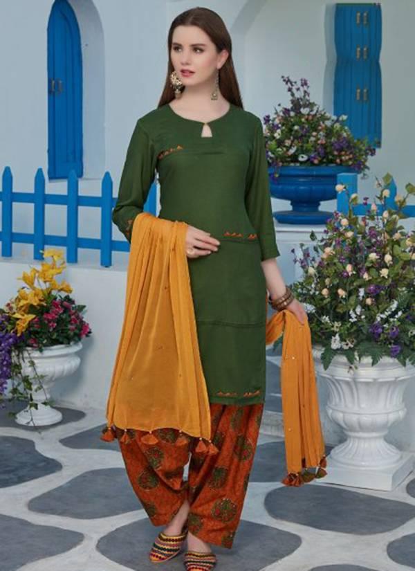 Kushals Anaya Series 2021-2030 Rayon Printed New Fancy Daily Wear Readymade Patiyala Suits Collection