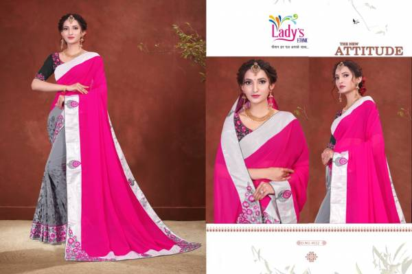Ladys Ethnic Moment Series 4021-4031 Georgette With Net Trendy Look Designer Sarees Collection