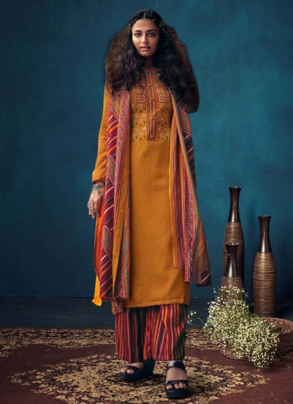 Zulfat Designer Suits Sohni Patiala Vol 5 Series A-01-A-10 Pure Pashmina Print With Heavy Kashmiri Embroidery Work New Designer Palazzo Suits Collection