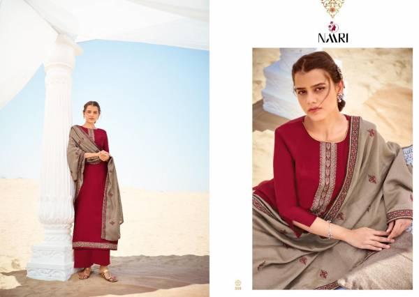 Naari Orum Gadhwal Silk Beautiful With Heavy Dupatta  Dress Material Collection