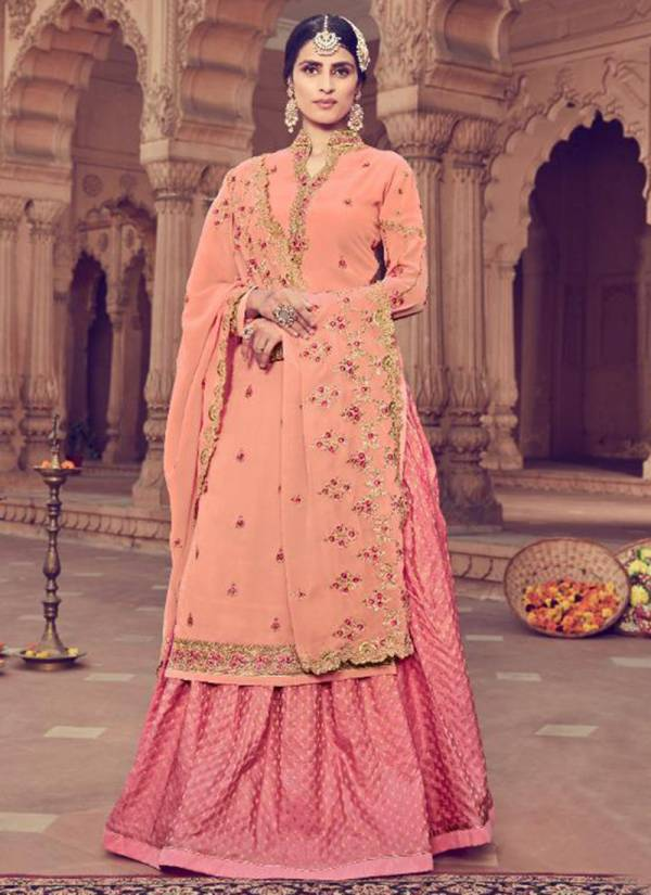 Zubeda Erina Georgette With Heavy Embroidery Work Banarasi Lehenga Suits Collection