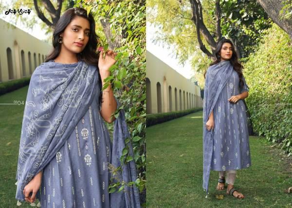 Jay Vijay Suhana Pure Lawn Cotton Block Khadi Printed Straight Suits Collection