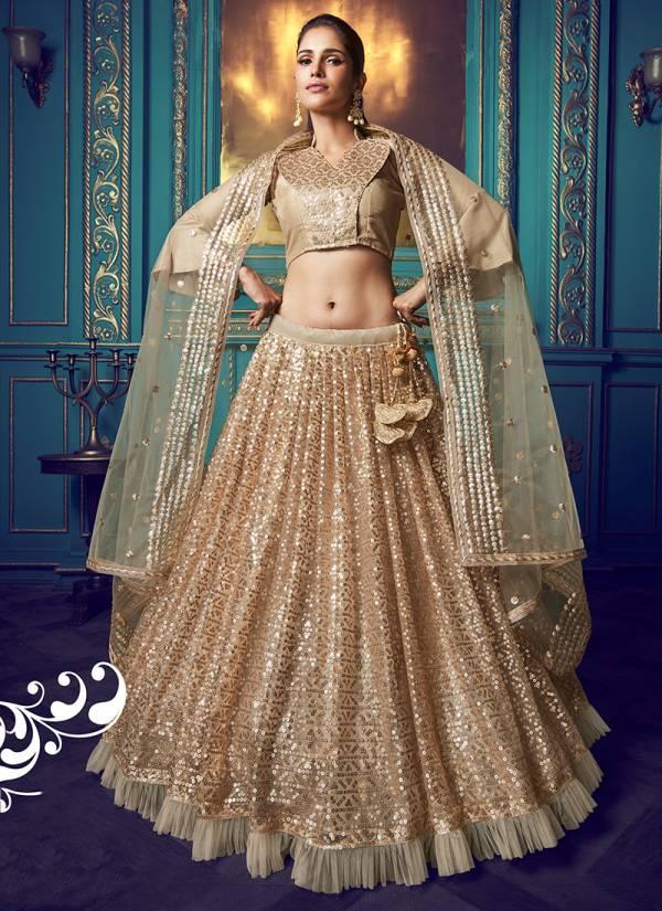 Arya Designer Cinderella Vol 7 Series 4101-4111 Fancy Soft Net With Sequins Ruffle & Thread Work Lehenga Choli Collection