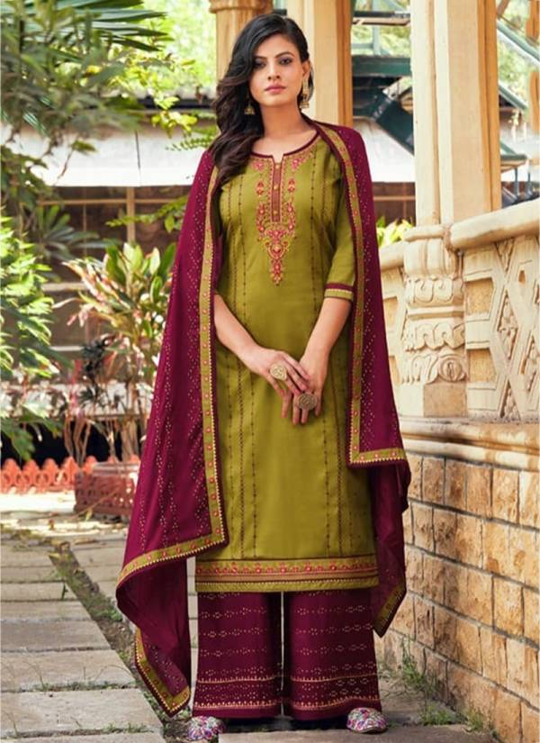 Kessi Fashion Safari Vol -3 Jam Silk Rayon Chinon Sequence With Embroidery Work Traditional Wear Plazzo Salwar Suit Collections