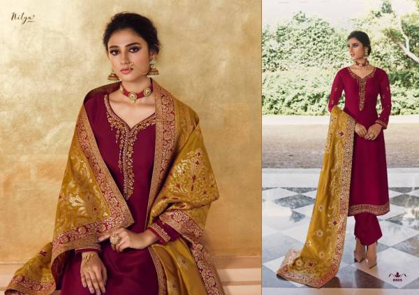 LT Nitya Vol 166 Georgette Satin With Fancy Embroidery Work Festival Wear Salwar Suits Collection