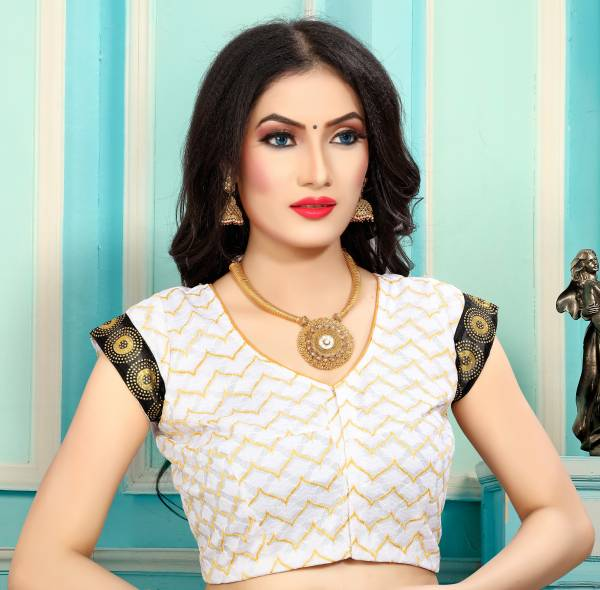 Shree Enterprise Series 6337-6340 Raschal Jacquard With Wooven Zari Work New Fancy Plus Size Readymade Blouses Collection (34 to 62 Size)