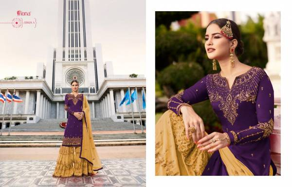 Fiona Noorie Vol 9 Series 22621-22621C Satin Georgette With Embroidery Work Party And Wedding Wear Sharara Suits Collection