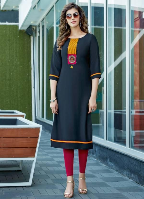 Mittoo Palak Vol 24 Heavy 14kg Rayon Regular Wear Designer Kurtis Collections