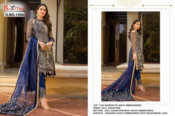 Khayyira Alzohaib Vol 2 Faux Georgette With Heavy Georgette Pakistani Suits Collection