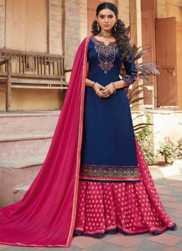 Kalarang Blue Berry Vol 3 Series 1921-1924 Modal Satin Silk With Heavy Embroidery Work Latest Designer Lehenga Suits Collection