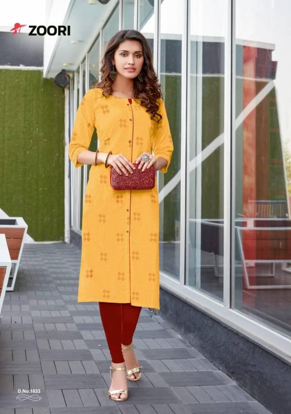Zoori Akshara Vol 4 Series 1030-1037 Rayon Printed Casual Wear Kurtis Collection