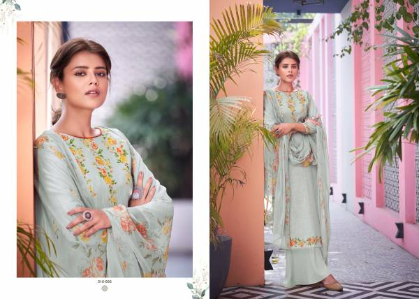 Belliza Designer Helix Pure Cotton Linen With Digital Printed Palazzo Suits Collection