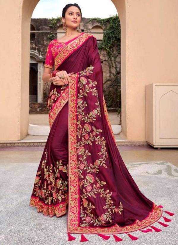 Monalisa Series 1101-1107 Viscose Georgette Satin Party Wear Designer Sarees Collection