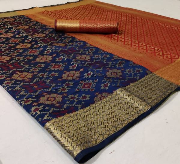 Nakshatra Fashion Studio Patola Saree Vol 1 Series PATOLA-91-PATOLA-101 New Banarasi Patola with Zari Weaving Heavy Pallu And Fancy Blouse With Border Traditional Wear Sarees Collection