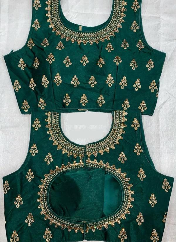 Ruhi Fashion Phantom Silk Fancy Embroidery Work Wedding Wear Designer Blouse Collection