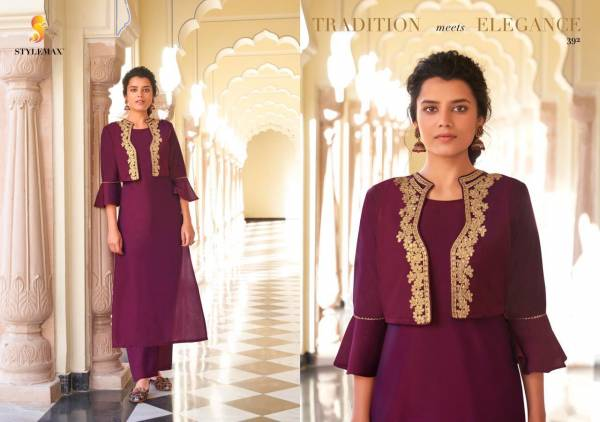 Stylemax Ameera 1 Pure Viscose Santoon With Designer Embroidery Work kurti With Bottom Collection