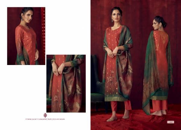 Om Tex Bliss Series 1441-1448 Banarasi Jacquard Digital Printed With Hand Work Ramazan Special Salwar Suits Collection
